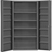"Durham Storage Bin Cabinet DC36-4S12DS-95 - 4 Shelves & 14 Door Shelves 36""W x 24""D x 72""H"