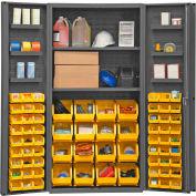 """Durham Storage Bin Cabinet DC36-642S6DS-95 - Hook-on Bins & Shelves 36""""W x 24""""D x 72""""H"""