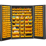 "Durham Storage Bin Cabinet DC48-176-95 - 176 Yellow Hook-on Bins 48"" x 24"" x 72"""
