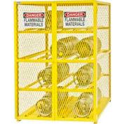 Horizontal Gas Cylinder Storage Cabinet EGCC12-50 - Holds (12) 20 Lb or 33.5 Lb LPG Cylinders