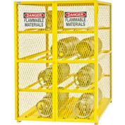 "Global Industrial™ Cylinder Storage Cabinet, Horizontal DBL Door 12 Cylinders, 50""Wx40""Dx71""H"