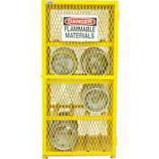 Durham Horizontal Gas Cylinder Storage Cabinet EGCC8-50 - Holds Eight 20 Lb or 33.5 Lb LPG Cylinders