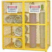 Durham Gas Cylinder Cabinet EGCC8-9-50 Holds (8) 20 Lb or 33.5 Lb LPG Cylinder & 9 Vertical Cylinder
