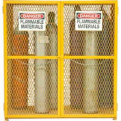 "Durham Vertical Gas Cylinder Storage Cabinet EGCVC18-50 - Holds 18 Cylinders Up to 59.75"" Tall"