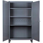 """Durham Heavy Duty Storage Cabinet HDC-246066-3S95 - 12 Gauge 60""""W x 24""""D x 66""""H"""