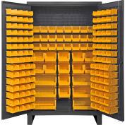 "Durham Bin Cabinet HDC48-162-95 - 12 Gauge With 162 Hook-On Bins, 48""W x 24""D x 78""H"