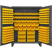 "Durham Bin Cabinet HDC60-198-95 - 12 Gauge With 198 Hook-On Bins, 60""W x 24""D x 78""H"