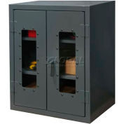 Durham Heavy Duty Clearview Counter Top Lockable Storage Cabinet HDCC243642-2S95 - 12 Gauge 36x24x42