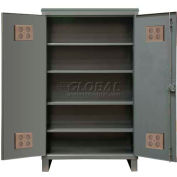 "Durham Heavy Duty Outdoor Shelf Cabinet HDCO244878-4S95 - 12 Gauge 48""W x 24""D x 78""H"