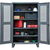 "Durham Heavy Duty Ventilated Storage Cabinet HDCV243678-4S95 - 12 Gauge 36""W x 24""D x 78""H"