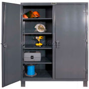 "Durham Heavy Duty Double Shift Storage Cabinet HDDS244866-6S95 - 12 Gauge 48""W x 24""D x 66""H"
