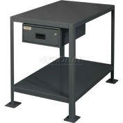 "Durham MTD243630-2K195 Machine table with drawer 36""W X 24""D X 3"