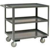 Durham Mfg® Rolling Service Stock Cart RSC-2436-3-95 3 Shelves 1200 Lb. Capacity 36 x 24