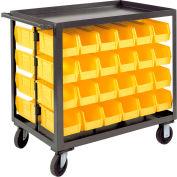 "Durham Bin Service Cart RSC-2436-BLP-48-230-95 - 48 Bins, 1200 Lbs. Cap. 36""L x 24""W x 37-5/8""H"