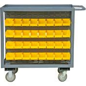 "Durham Bin Service Cart RSC-2436-BLP-64-220-95 - 64 Bins, 1200 Lb. Cap., 36""L x 24""W x 37-5/8""H"