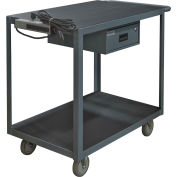 "Instrument Cart, 2 Shelves, 1200 Lbs. Capacity, 36 x 24, 5"" Polyurethane Casters"