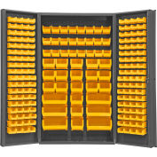 "Durham Storage Bin Cabinet SJC-BDLP-192-95 - 192 Hook-on Bins 48""W x 24""D x 84""H"