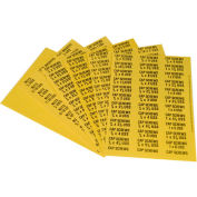 Durham Pressure Sensitive Labels 012-D850 - For Horizontal Drawer Cabinets - Size/Part N - Pkg Qty 10