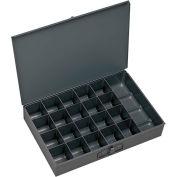 Durham Steel Scoop Compartment Box 204-95 - 21 Compartment, 13-3/8x9-1/4x2 - Pkg Qty 6