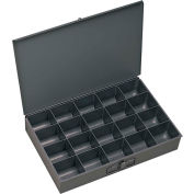 Durham Steel Scoop Compartment Box 206-95 - 20 Compartment, 13-3/8x9-1/4x2 - Pkg Qty 6