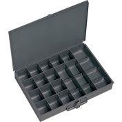 Durham Steel Scoop Compartment Box 227-95 - 17 Compartment, 13-3/8x9-1/4x2 - Pkg Qty 6