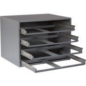 Durham Slide Rack 307-95 - For Small Compartment Storage Boxes - Fits Four Boxes