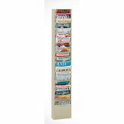 20 Pocket Vertical Literature Rack - Putty