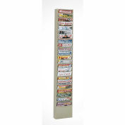 23 Pocket Vertical Literature Rack - Putty