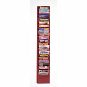 23 Pocket Vertical Literature Rack - Burgundy
