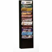 11 Pocket Vertical Literature Rack - Black