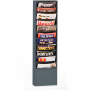 11 Pocket Vertical Literature Rack - Gray