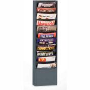 11 Pocket Vertical Literature Rack - Gray