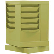20 Pocket Rotary Literature Rack - Putty