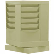 20 Pocket Rotary Literature Rack - Tan