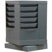 20 Pocket Rotary Literature Rack - Gray