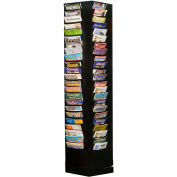 92 Pocket Rotary Literature Rack - Black