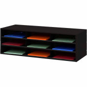 9 Opening Horizontal Literature Rack - Black