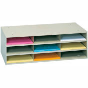 9 Opening Horizontal Literature Rack - Tan