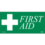 First Aid Label - Green