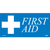 First Aid Label - Blue