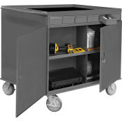 Two-Sided Cart - 12 Compartments 12 Drawers 1 Cabinet