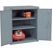 """Global Industrial™ 12 Gauge Heavy Duty 36"""" W x 24"""" D x 36"""" H Counter High Cabinet, Gray"""