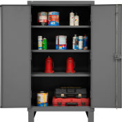 "Global Industrial™ 12 Gauge Heavy Duty 36"" W x 24"" D x 66"" H Cabinet, Gray"