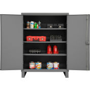 "Global™ 12 Gauge Heavy Duty 48"" W x 24"" D x 66"" H Cabinet, Gray"