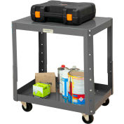 """Durham Mobile Machine Table - Adjustable Height, 2 Shelves - 48-1/8""""W x 24-1/8""""D x 27-13/16""""H"""
