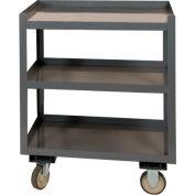 """Durham PSD-2430-3-95 24""""W x 30""""D Mobile Shop Desk - 3 Shelves, Gray"""