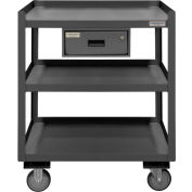 Portable Shop Desk w/ Drawer - 3 Shelves