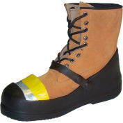 TREDS Steel Toe Work Half-Loafer Shoe Covers, Men's, Black with Yellow Toe, Size 8-10, 1 Pair