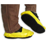 PAWS Vinyl Stripping Shoe Covers, Men's, Yellow, Size 12+, 1 Pair