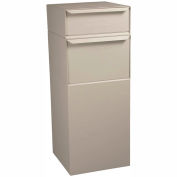 dVault Full Service Vault Mailbox and Parcel Drop DVCS0015 - USPS Approved - Rear Access - Sand